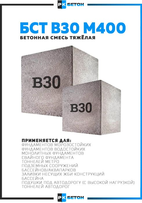 цена на бетон в30 в москве